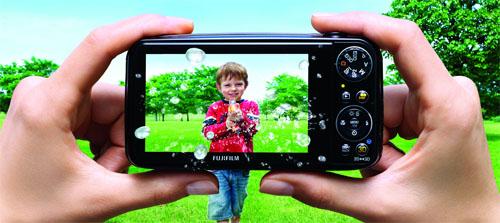Fujifilm Real 3D W3 Hinten