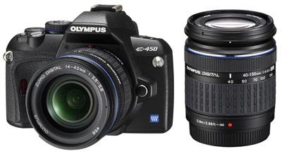Olympus E-450 inkl. Kit 14-42 & 40-150 mm