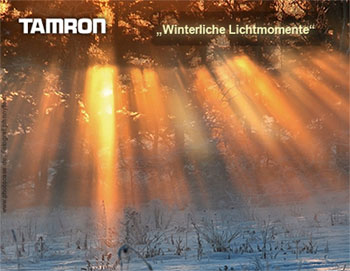 Tamron Fotowettbewerb winterliche Lichtmomente