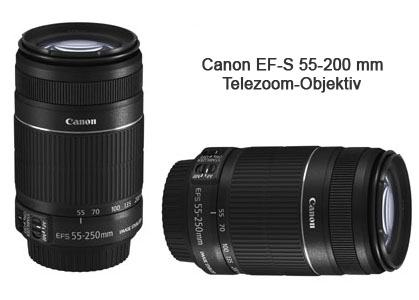 Canon EF-S 55-200 mm 1:4-5,6 IS II Telezoom Objektiv