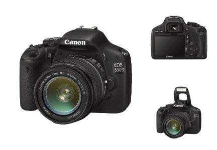 Canon EOS 550D inkl. Kit 18-55mm IS Objektiv